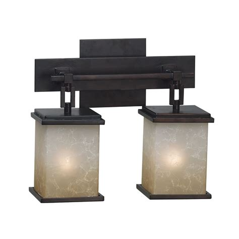 kenroy home lighting modern bathroom light with glass in rubbed