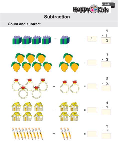 kindergarten maths subtraction preschool
