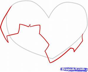How to Draw Broken Hearts, Step by Step, Symbols, Pop ...