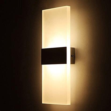 geekercity modern acrylic 6w led bedroom wall ls