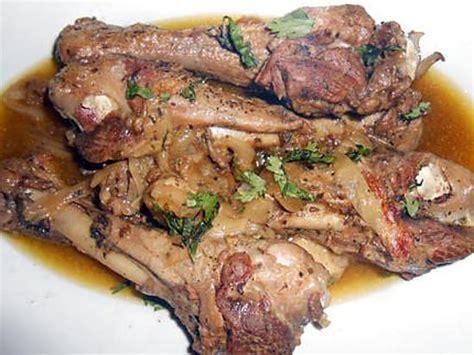 cuisiner manchons de canard recette de manchons de canard au jus flageolets et