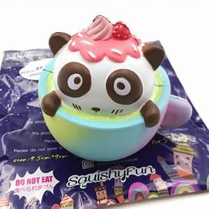 Squishy Fun Cafe Panda Squishy 9.5cm Slow Rising Original ...