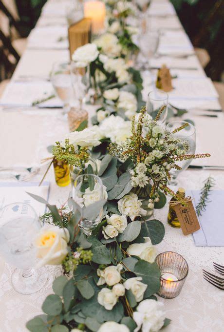 fresh flower table runners   wedding style