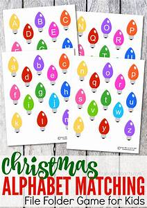printable christmas alphabet matching file folder game With free file folder game templates