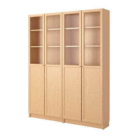 bill bookcase billy oxberg bookcase birch veneer ikea