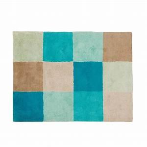 tapis damier bleu pm oxybul pour enfant des la naissance With tapis chambre bleu