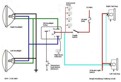 thesamba view topic headlight wiring for dummies