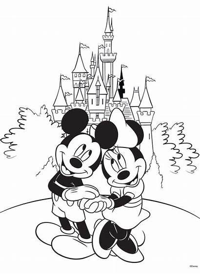 Disneyland Coloring Pages Clipart Castle Drawing Clipartmag