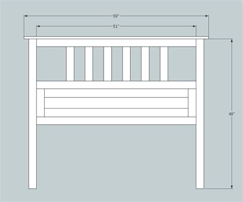 ana white build  full size slatted headboard