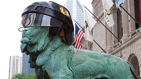 art institute lions  blackhawks helmets abcchicagocom