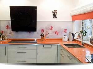 Küche Fliesenspiegel Höhe : spritzschutz f r k che und bad individuell gestalten ~ Michelbontemps.com Haus und Dekorationen