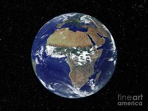 Full Earth Showing Africa And Europe Photograph by ...