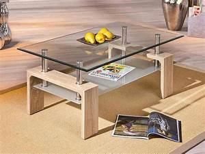 Table Basse Chene Clair : table basse ch ne clair et verre contemporaine ottavia 3 ~ Teatrodelosmanantiales.com Idées de Décoration