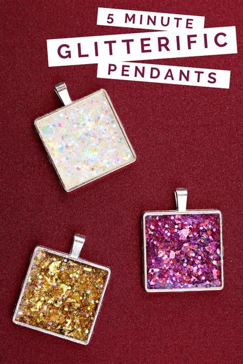 minute glitterific pendants accessory  mad  crafts