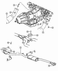 Dodge Challenger Bracket  Exhaust  Front  Left Front  Rear  Right  Right Front  Right Rear