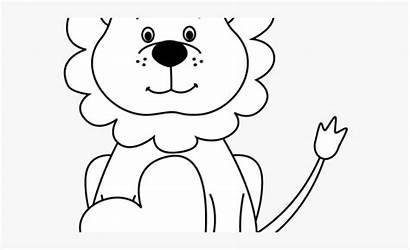Lion Coloring Clipart Circus Pages Cartoon Transparent