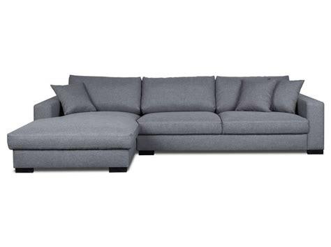 canapé d angle assise profonde canapé d 39 angle fixe gauche 5 places en tissu winson