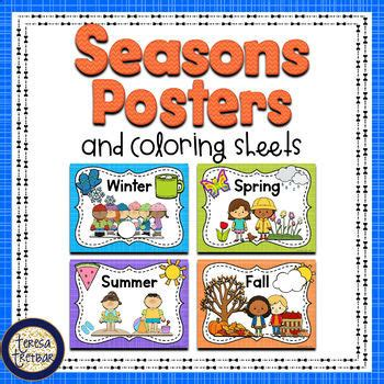 FREE Seasons Posters and Coloring Sheets by Teresa Tretbar ...