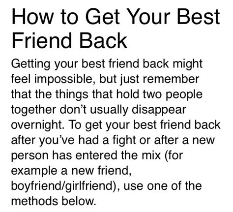 Getting My Best Friend Back Quotes