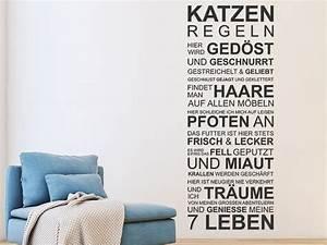 Katzen Fernhalten Von Möbeln : wandtattoo katzen regeln spruchband f r katzenfans ~ Sanjose-hotels-ca.com Haus und Dekorationen