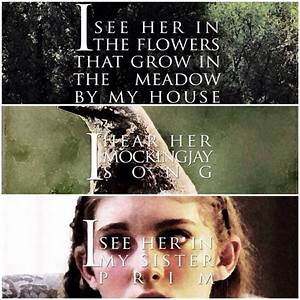 Hunger Games Quote / Catching Fire / Katniss / Rue | The ...