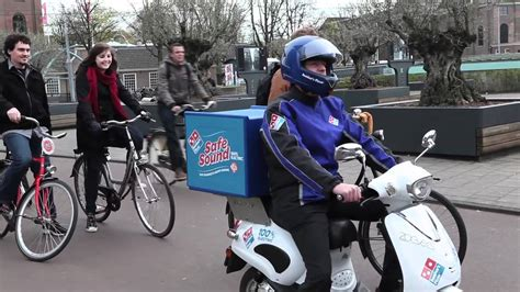 Domino's Electric Delivery Scooters