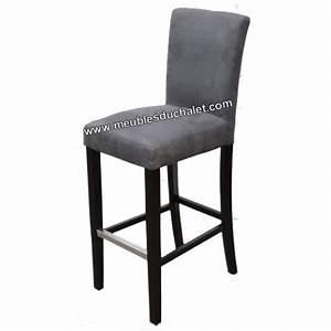 Chaise De Bar Grise : chaise haute tissu gris casita les meubles du chalet ~ Voncanada.com Idées de Décoration