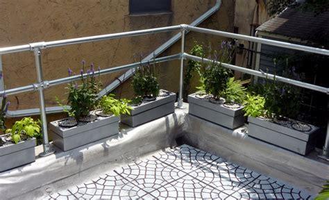 steel deck handrails modern metal deck railing simplified building