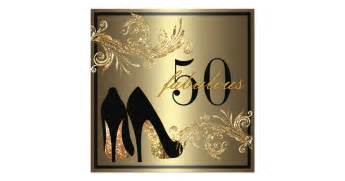 bridal shower party supplies shoes fabulous 50th birthday invitation zazzle