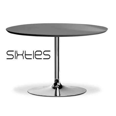 table cuisine ronde pied central table ronde design sixties pied central type trompette plateau stratifié