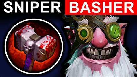 basher sniper dota 2 patch 7 06 new meta pro gameplay youtube