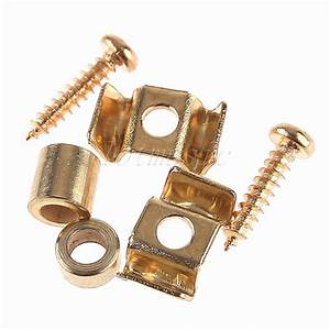 50 Sets Gold Guitar Roller String Guides Retainer Trees