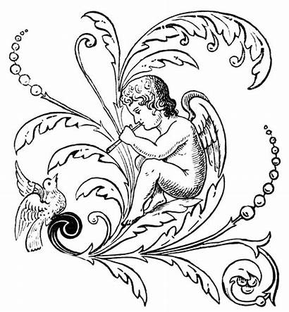 Angel Clipart Coloring Pages Clip Angelo Italophile