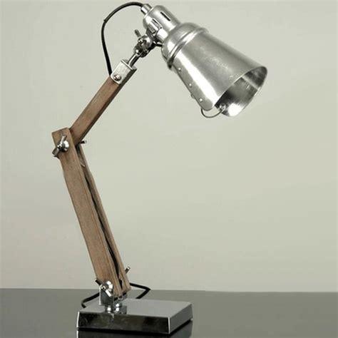 handmade loft metal  wood table lamp industrial
