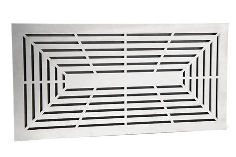 lüftungsgitter mit einbaurahmen design l 252 ftungsgitter 45 x 23 cm einbaurahmen edelstahl matt schwarz kaufen cafiro 174