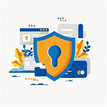 Cyber Security Vector Clipart Internet Protection Computer