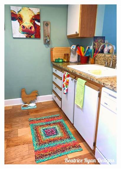 Crochet Rug Pattern Easy Kitchen Bright Country