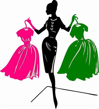 Clipart Silhouette Lady Mujer Ropa Wise Designer