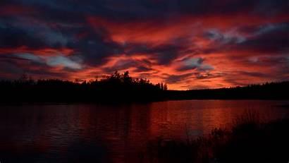 River Sunset Horizon 4k Background Uhd