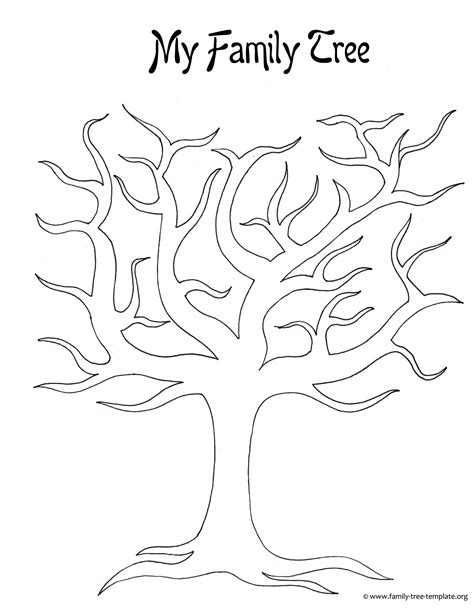 large tree template large blank family