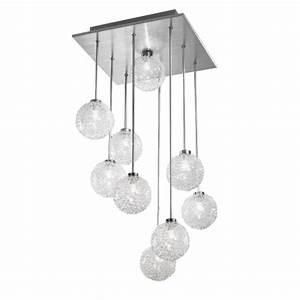 Plafonnier Boule Verre : plafonnier suspension luminaire suspendu salon triloc ~ Teatrodelosmanantiales.com Idées de Décoration