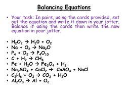 chemistry balancing chemical equations by jamjar87