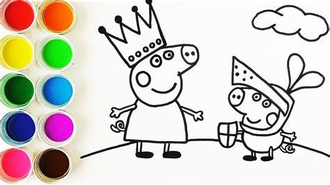 como dibujar  colorear  la reina peppa pig  al