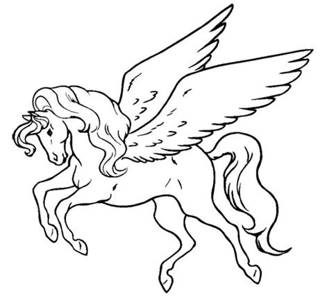 Kleurplaat Kawaii Unicorn by Unicorn Flying Coloring Page Coloring Pages