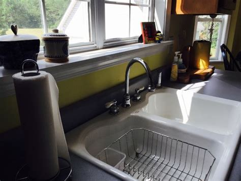 drop in sink and granite countertops