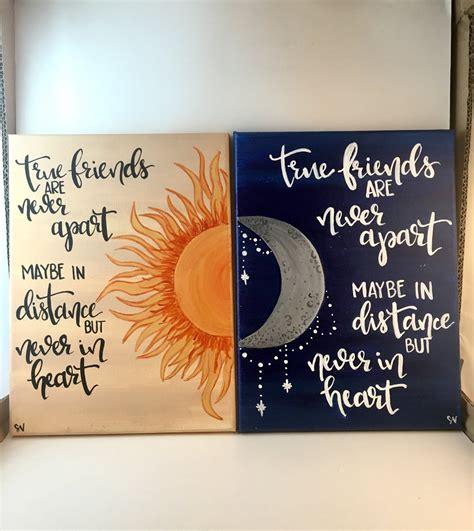 friend canvas canvas by true friends sun moon distance canvas painting set of 2 Best