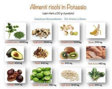 il potassio negli alimenti potassio alimentare
