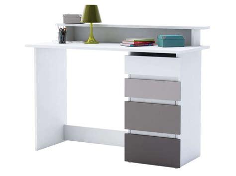 bureau maths coloris blanc et gris conforama france