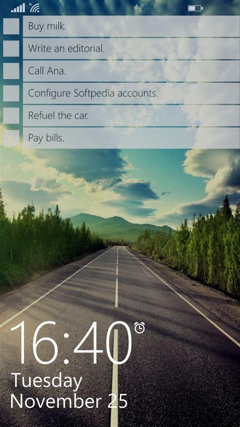 windows phone app   day lockscreen todo