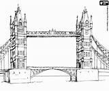 London Coloring Coloriage Monuments Drawbridge Europe Londra Imprimer Ponte Zabytki Monumenti Londres Kolorowanki Colorare Paris Bridge Londynie Disegni Tower Europa sketch template